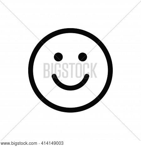 Smile Icon Isolated On White Background. Smile Icon In Trendy Design Style. Smile Vector Icon Modern