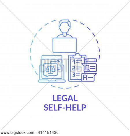 Legal Self Help Concept Icon. Legal Services Categories. Develops And Distributes Legal Self Help In