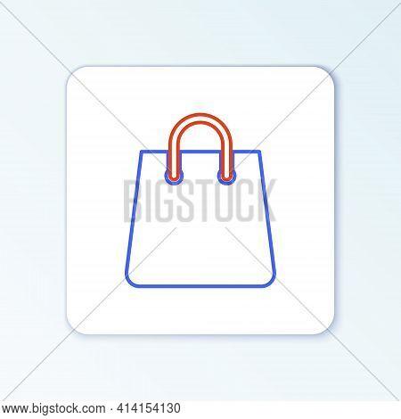 Line Handbag Icon Isolated On White Background. Shopping Bag Sign. Woman Bag Icon. Female Handbag Si