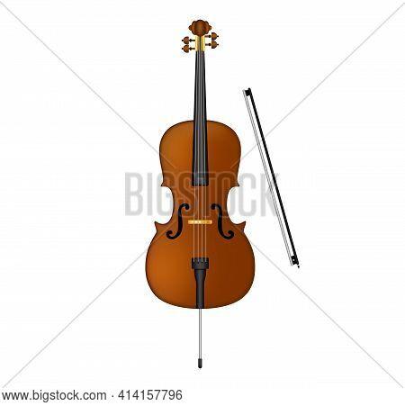 Ello Violoncello . Cello Stock Vector Illustration Isolated On White Background