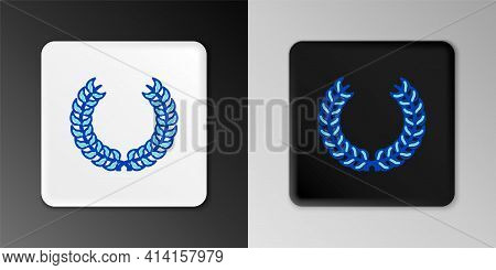 Line Laurel Wreath Icon Isolated On Grey Background. Triumph Symbol. Colorful Outline Concept. Vecto