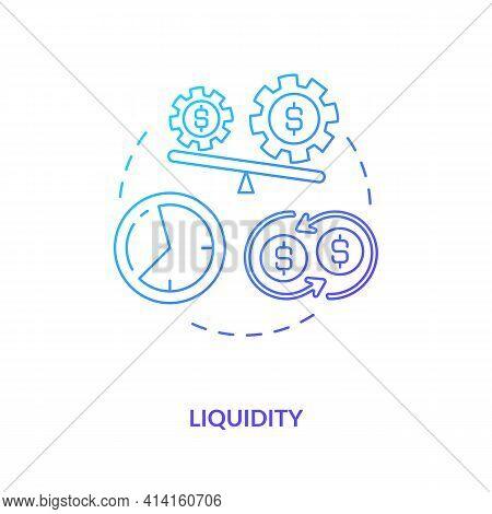 Liquidity Concept Icon. International Stocks Challenge Idea Thin Line Illustration. Bond, Equity Mar