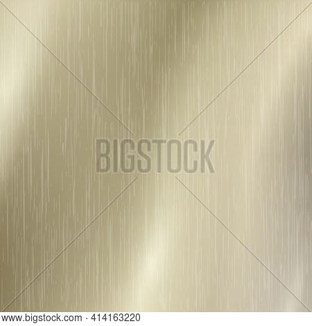 Background Texture Of Light Metal With Golden Highlights - Vector Illustration