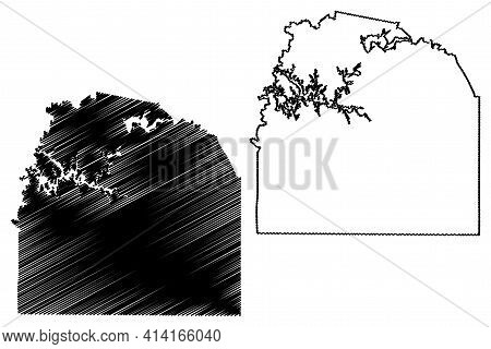 Franklin County, State Of Tennessee (u.s. County, United States Of America, Usa, U.s., Us) Map Vecto