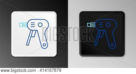 Line Electric Hot Glue Gun Icon Isolated On Grey Background. Hot Pistol Glue. Hot Repair Work Applia