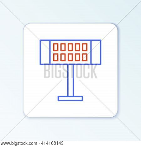 Line Electric Heater Icon Isolated On White Background. Infrared Floor Heater With Remote Control. H