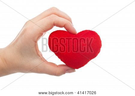 Woman Holding Heart In Her Hand