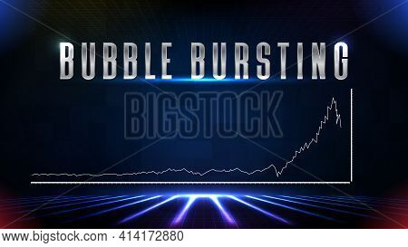 Abstract Backgroud Of Stock Market Investment Falling Bubble Bursting