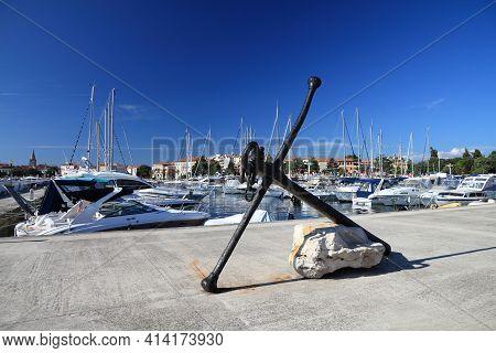 Boats In Marina - Porec On Istria Peninsula, Croatia.