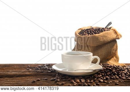 Set Of Fresh Roasted Coffee Beans. Roasted Coffee Beans Background