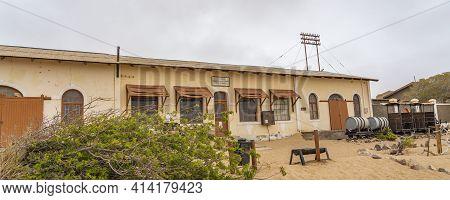 Namib Desert, Namibia - January 8.2021: The Diamonds Store At German Kolmanskop - Kolmannskuppe Ghos