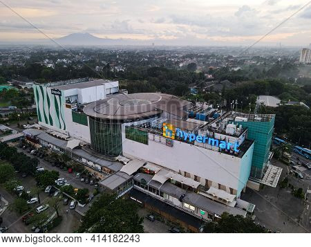 Aerial View Of Hypermart, Hypermart Is A Largest Shopping Mall In Jakarta. Jakarta, Indonesia - Marc