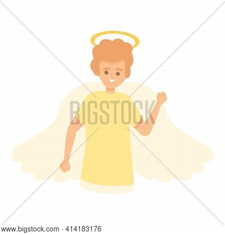 Heaven Angel Icon. Cartoon Of Heaven Angel Vector Icon For Web Design Isolated On White Background