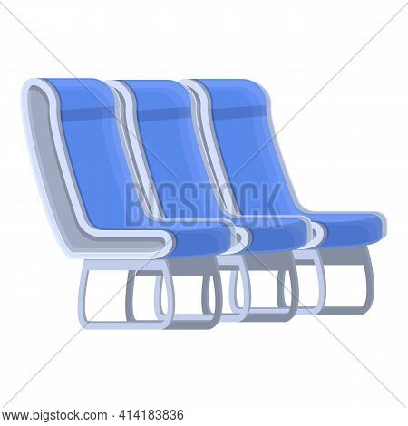 Passenger Seats Icon. Cartoon Of Passenger Seats Vector Icon For Web Design Isolated On White Backgr