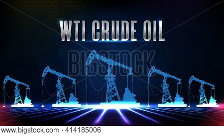 Abstract Background Of Blue Wti Crude Oil Stock Market Trading