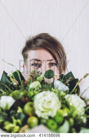 Wonderful Edible Wedding Bridal Flower Bouquets. Custom Diy Fruit Vegetable Green Organic Bouquet. B