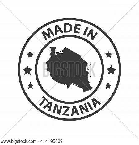 Made In Tanzania Icon. Stamp Sticker. Vector Illustration
