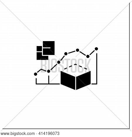 Predictive Modeling Glyph Icon.process That Uses Data And Statistics To Predict Outcomes With Data M