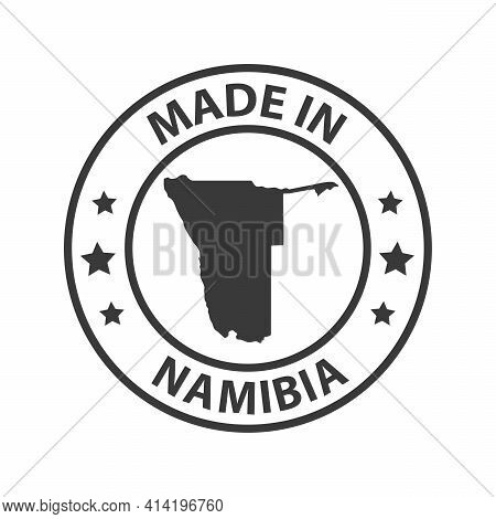 Made In Namibia Icon. Stamp Made In With Country Map