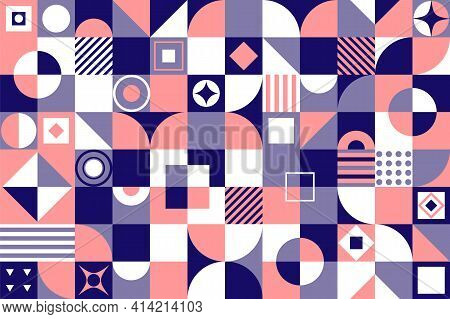 Modern Geometric Abstract Pattern Design. New Geo Artwork Of Vector Abstract Composition Design Made