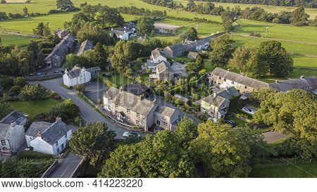 Bampton, Cumbria, Uk, August 2020 - Aerial View Of The Village Of Bampton, Penrith, Cumbria, Uk