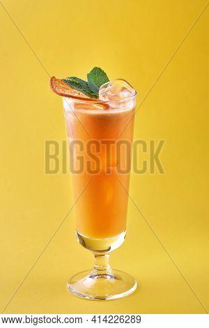 Cold And Refreshing Summer Grapefruit Cocktail Or Mocktail Garnished
