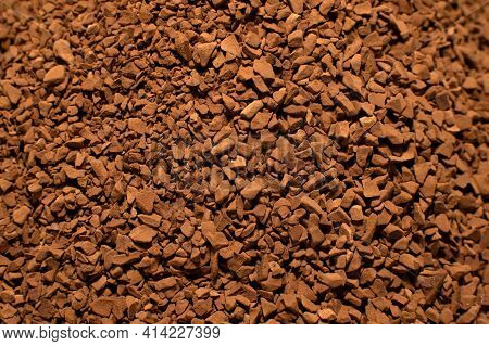 Coffee. Instant Coffee Close-up. Coffee Granules For An Invigorating And Flavorful Drink