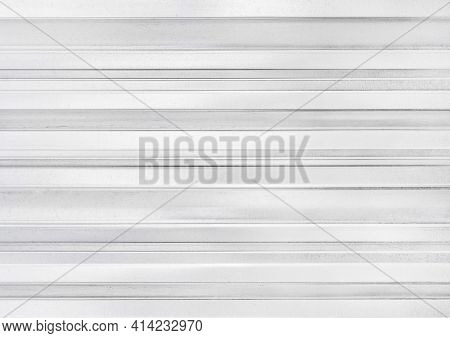 Metal Fence, Galvanized Iron, White Wall Texture Background.
