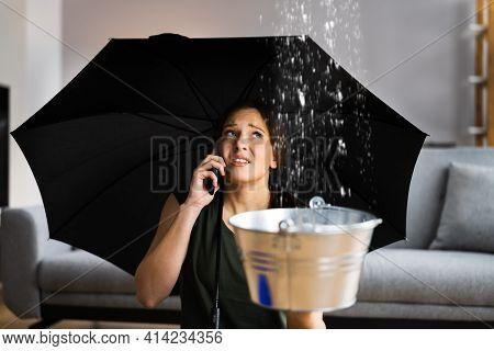 Emergency Leak Damage Water Leak Or Flood From Ceiling