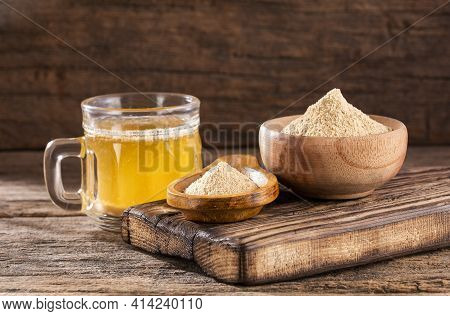 Healthy Drink From The Root Of Peruvian Maca - Lepidium Meyenii