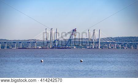 Scenes Around Tappan Zee Bridge On Hudson River