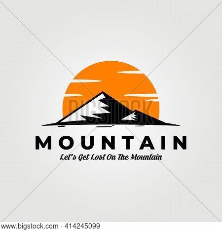 Mountain Logo Vector Illustration Design Adventure Icon