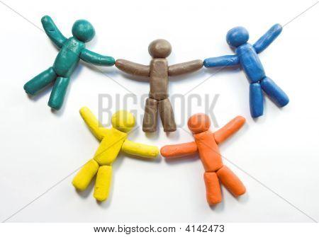 Five Plasticine People