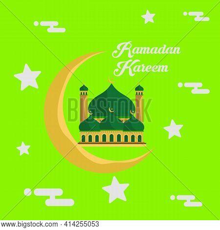 Design Creative Concept Of Islamic Celebration Day Ramadan Kareem. Ramadan Kareem Vector Illustratio