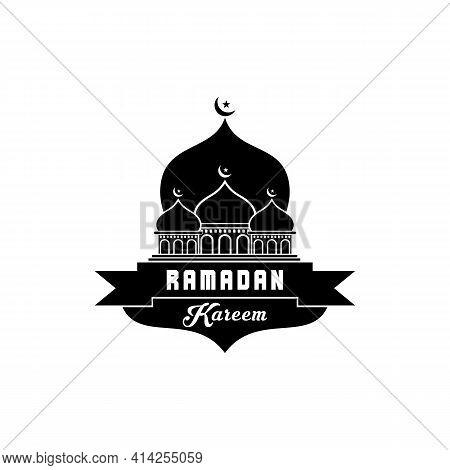 Simple Ramadan Icon Isolated On White Background. Ramadan Icon. Ramadan Icon Simple Sign. Illustrati