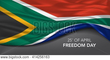South Africa Happy Freedom Day Greeting Card, Banner With Template Text Vector Illustration