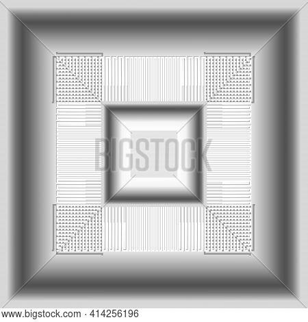 3d White Seamless Pattern. Vector Neumorphism Style Light Background. Surface Repeat Backdrop. Geome
