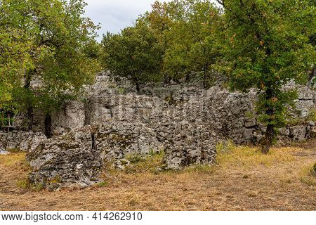 Old Ruins In Chassagnes In Ardeche In France