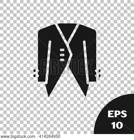 Black Suit Icon Isolated On Transparent Background. Tuxedo. Wedding Suits With Necktie. Vector