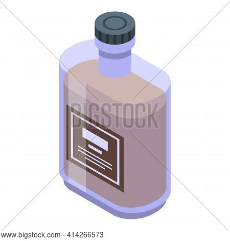 Strong Bourbon Icon. Isometric Of Strong Bourbon Vector Icon For Web Design Isolated On White Backgr