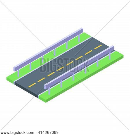 Highway Road Icon. Isometric Of Highway Road Vector Icon For Web Design Isolated On White Background