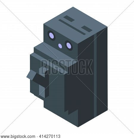 Voltage Breaker Icon. Isometric Of Voltage Breaker Vector Icon For Web Design Isolated On White Back