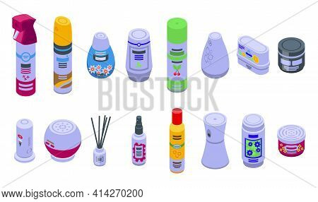 Air Freshener Icon. Isometric Of Air Freshener Vector Icon For Web Design Isolated On White Backgrou