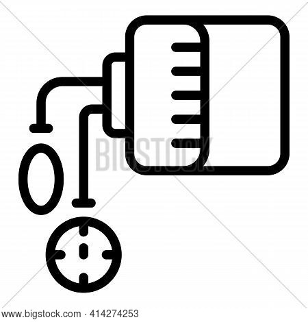 Online Pharmacy Icon. Outline Online Pharmacy Vector Icon For Web Design Isolated On White Backgroun