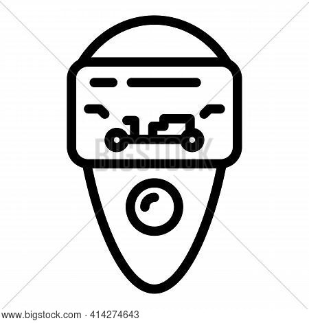 Vehicle Keyless Icon. Outline Vehicle Keyless Vector Icon For Web Design Isolated On White Backgroun