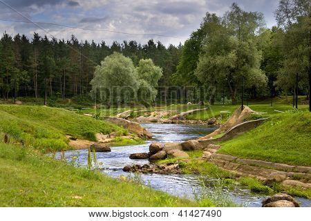 Summer Park In Valmiera