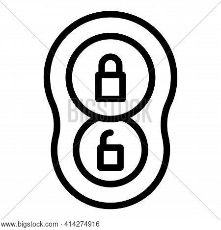 Remote Auto Key Icon. Outline Remote Auto Key Vector Icon For Web Design Isolated On White Backgroun