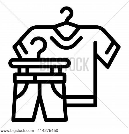 Used Clothes Donation Icon. Outline Used Clothes Donation Vector Icon For Web Design Isolated On Whi