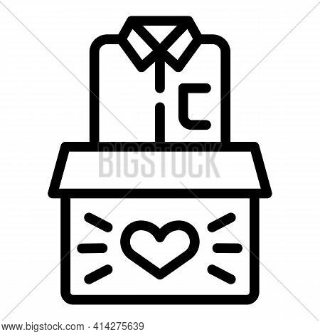 Fundraising Clothes Icon. Outline Fundraising Clothes Vector Icon For Web Design Isolated On White B