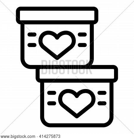 Solidarity Boxes Charity Icon. Outline Solidarity Boxes Charity Vector Icon For Web Design Isolated